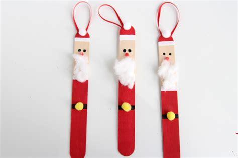 popsicle stick santas   project