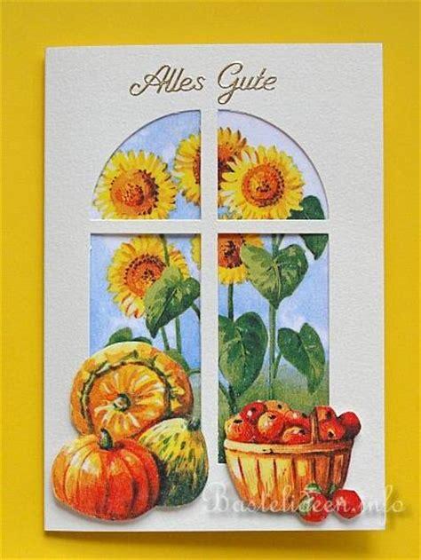 Herbstmotive Fenster by Grusskarten Basteln Herbst Quot Ein Blick Aus Dem Fenster Quot