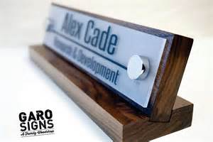 desk name plate and accessory personalized wood desk by