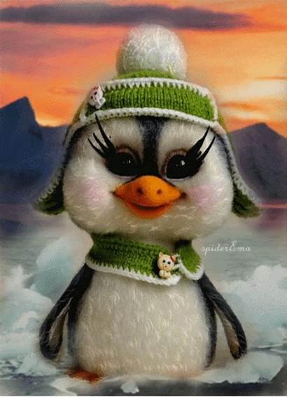 Fun Cartoon Penguin Winter Yandex Penguins Animals