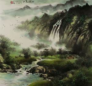 Chinese Landscape Painting Mountain