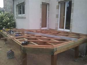 terrasse bois sur vis de fondation loire eco bois With fondation pour terrasse en bois