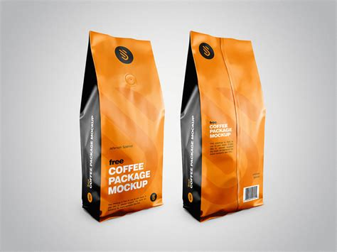 ✓ free for commercial use ✓ high quality images. Free Coffee Pouch Package Mockup | Free Mockup