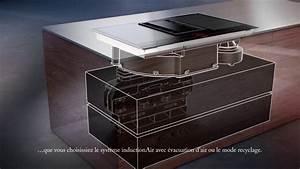 Plaque Induction Avec Hotte Intégrée Miele : table de cuisson avec ventilation int gr e siemens inductionair youtube ~ Voncanada.com Idées de Décoration