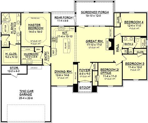 floor plans 2000 square european style house plan 4 beds 2 baths 2000 sq ft plan