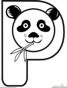 Animal Alphabet Letters P Coloring Pages