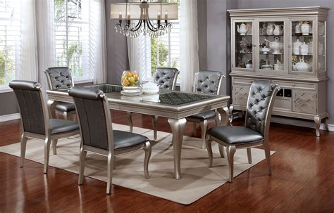 amina   dining room set  furniture  america