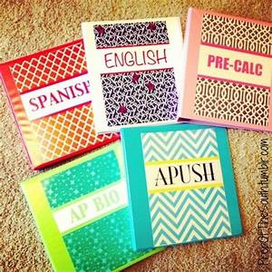 Decorating your binders with scrapbook paper instead of ...