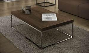 Table Basse Moderne : table basse prairie de temahome table basse rectangulaire plateau noyer ~ Preciouscoupons.com Idées de Décoration