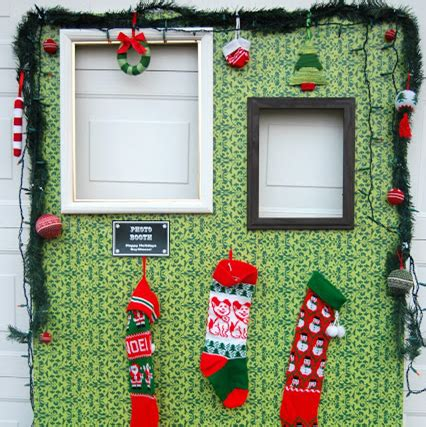 Christmas Backdrop Ideas Booth