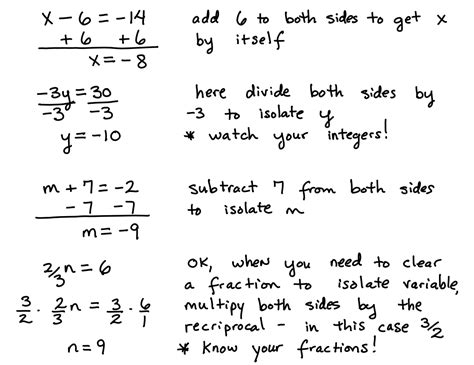 Solving One Step Equations (basic Equations)  Learning Algebra Can Be Easy