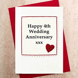handmade 4th wedding anniversary card by jenny arnott With 4th wedding anniversary gifts for her