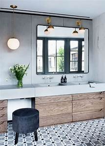 une salle de bain en carreaux de ciment frenchy fancy With carreaux de ciment sdb