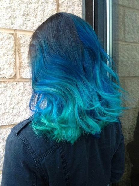 41 Bold And Beautiful Blue Ombre Hair Color Ideas Page 2