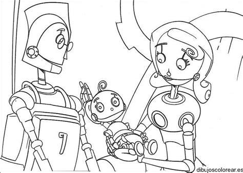 dibujo de una familia de robots