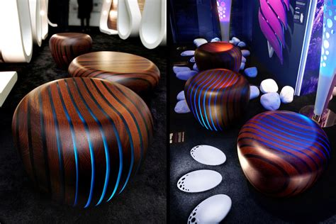 bright woods collection led backlit furniture  wood