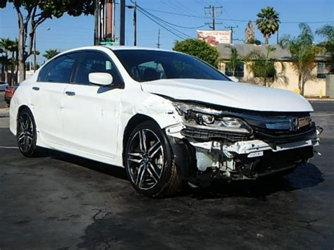 perfect color  honda accord sport sedan repairable