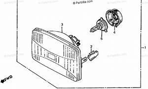 Honda Motorcycle 1986 Oem Parts Diagram For Headlight