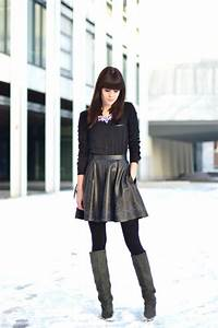 How to wear | The printed leather skirt u2013 Part 1 u00ab Lovely by Lucy