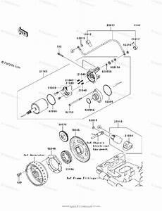 Kawasaki Atv 2008 Oem Parts Diagram For Starter Motor