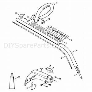 Stihl Fs 40 Brushcutter  Fs40  Parts Diagram  Drive Tube Assembly  Loop Handle