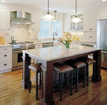 large kitchen islands with seating for six   Option #7