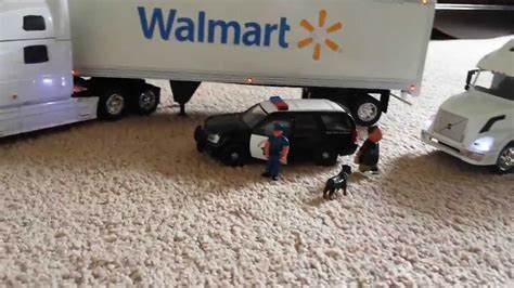 scale walmart trucks  pulled    usps