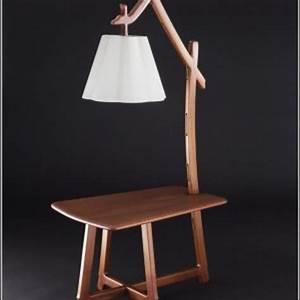 Mission style end table with lamp attached built in for Mission style floor lamp with table