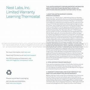 Nest Learning Thermostat Gen 3 3rd Generation Thermostat