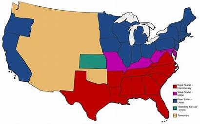 States Slave Civil War American Before Svg