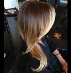 Brown and Blonde Ombre Hair Color