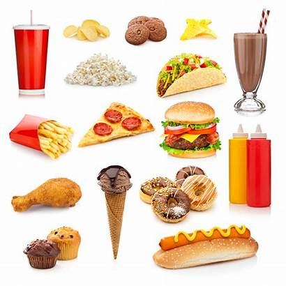 Junk Unhealthy Background Clipart Foods Isolated Fast