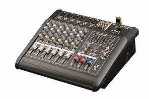 2000 Watts 6 Channel Professional Powered Mixer Power
