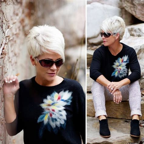 Pin on Short grey hairstyles for women glasses wearers