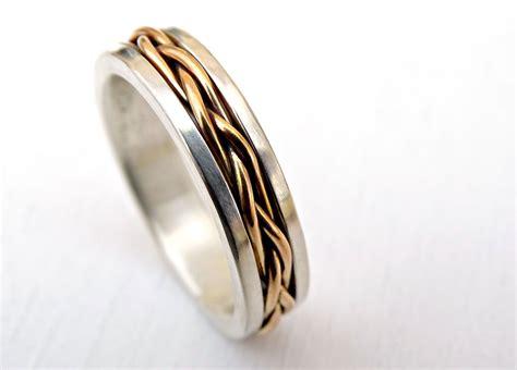 buy a custom made celtic wedding band men gold braided