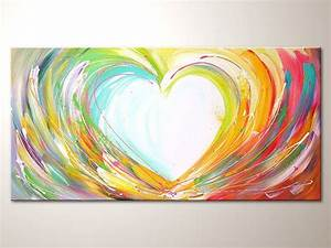 "Original modern art painting ""Happy love"" , abstract ..."