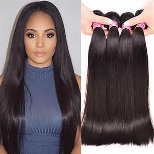 "Straight Brazilian Hair Weave Bundles 8"" 28"" Brazilian ..."