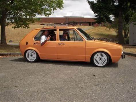 Slammed At A Golf Tourna 82 Vw Rabbit Masturbates