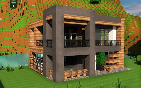 Maison Moderne Minecraft  Wwwpixsharkcom Images