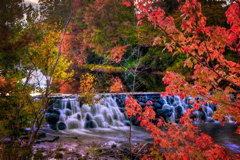 Autumn Waterfall New England Fall Foliage Photograph By