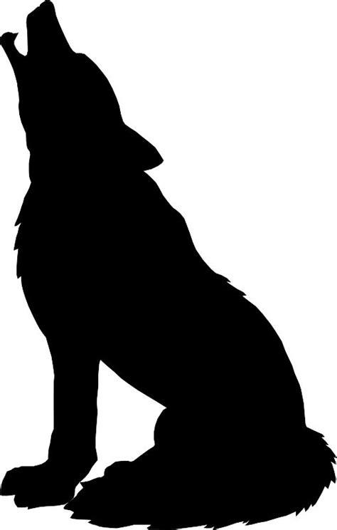 wolf silhouette    pinterest   clip