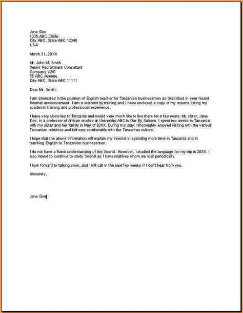 teaching position cover letter sle 28 images resume in