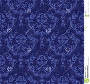 papier peint floral bleu de luxe de damass 233 photos stock