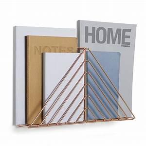 Porte Document Mural : porte revues mural cuivre strum ~ Teatrodelosmanantiales.com Idées de Décoration