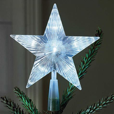 battery operated indoor outdoor xmas christmas tree topper