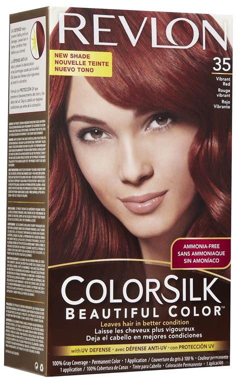 revlon colorsilk permanent hair color vibrant red