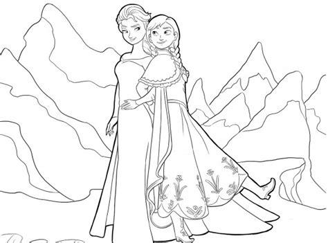 dibujos de las princesas anna  elsa frozen  imprimir  colorear colorear imagenes