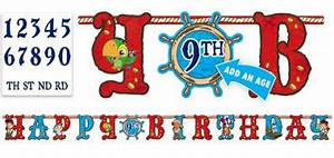 boys birthday banners happy birthday banners letter With party city banner letters