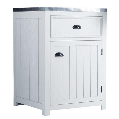 meuble cuisine 60 cm meuble bas de cuisine ouverture gauche en pin blanc l 60