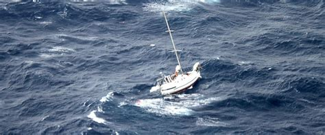 Yellowfin Boats In Rough Seas by Surviving 24 Hours In Hurricane Julio On A Sinking